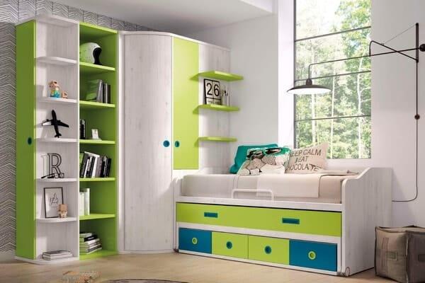 dormitorios juveniles verde