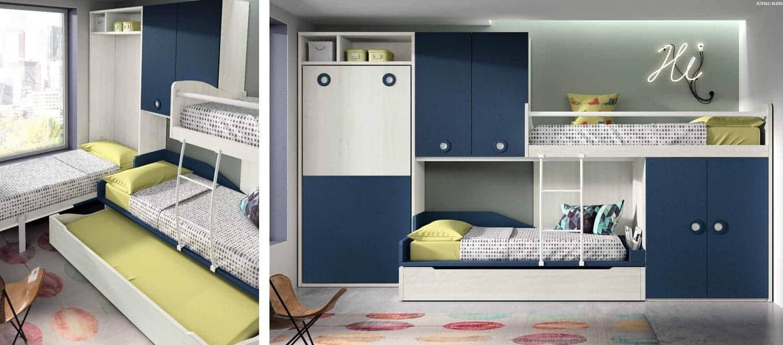dormitorios juveniles 4 camas