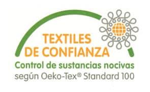 sello calidad standard 100 de oeko-tex textiles de confianza