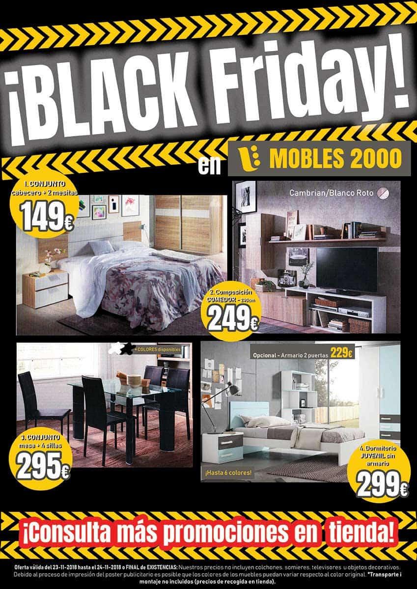 imagen promocional black friday con muestra de productos