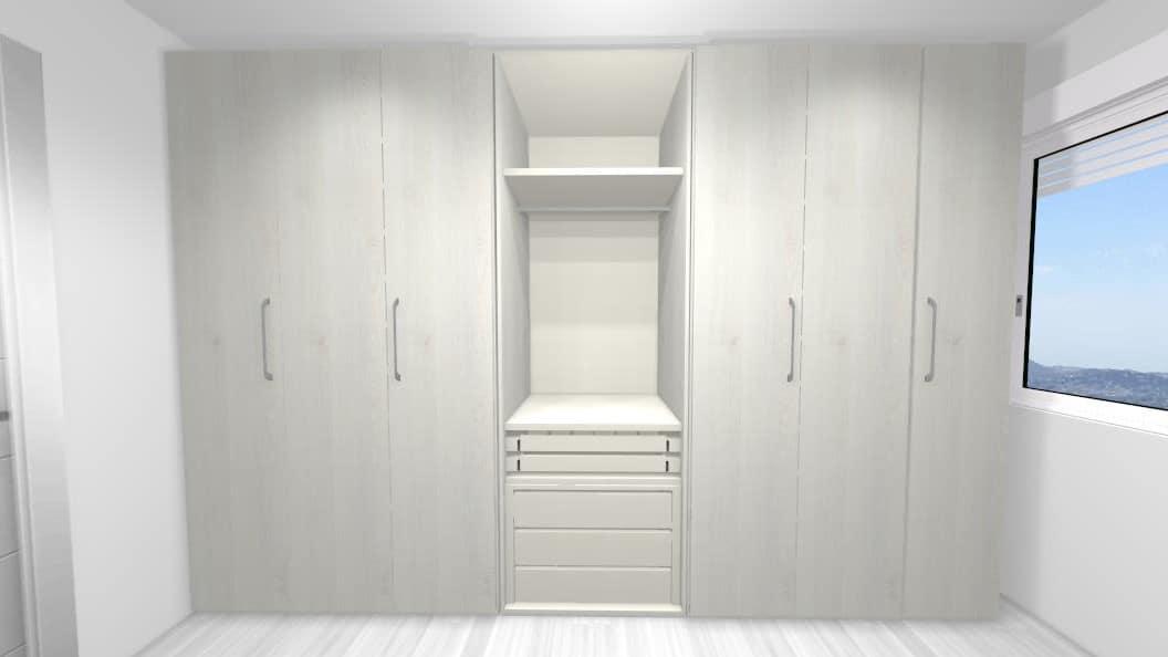 Diseño 3D armario vestidor
